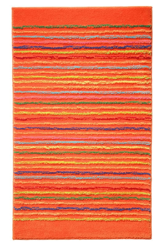 Tapis de bain antidérapant orange Cool Stripes Esprit Home