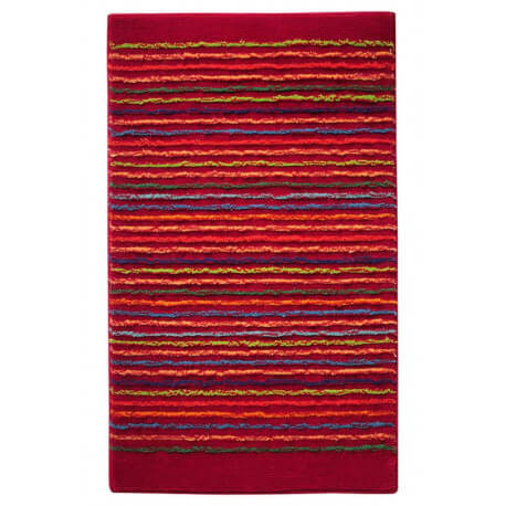 Tapis de bain antidérapant rouge Cool Stripes Esprit Home