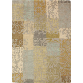Tapis patchwork laine courtes mèches ethnique Yara Patchwork