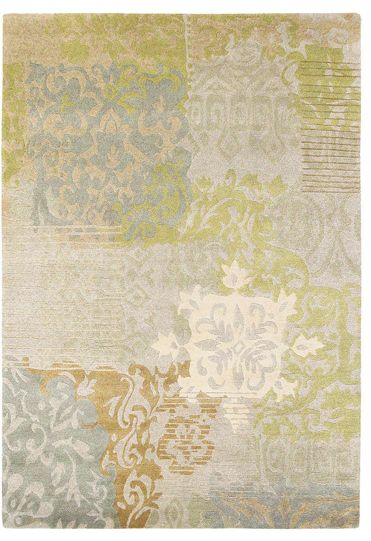 Tapis noué main en laine beige moderne Yara Venice