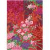 Tapis floral multicolore noué main en laine Yara Garland