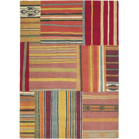 Tapis multicolore en laine noué main design Yara OFTB