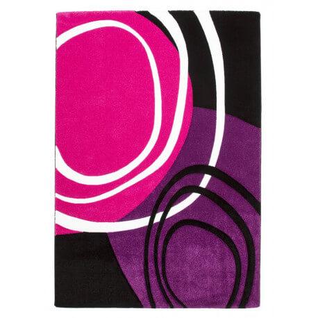 Tapis de chambre design rose et pourpre Aqua