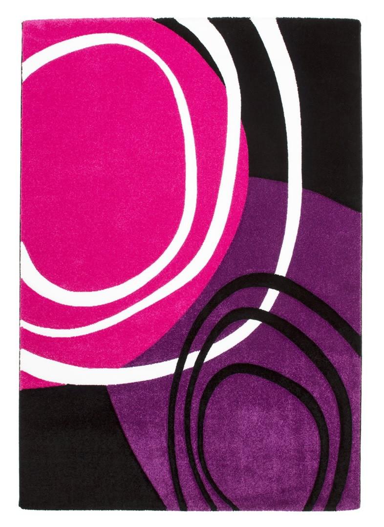 Tapis de salon design rose et pourpre Aqua