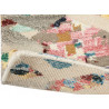 Tapis multicolore noué main laine et viscose vintage Yeti Summit