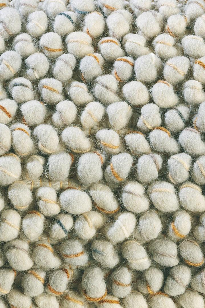 Tapis tissé main laine et jute uni plat pour salon Cobble