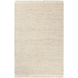 Tapis plat en laine avec franges design pour salon Atelier Twill