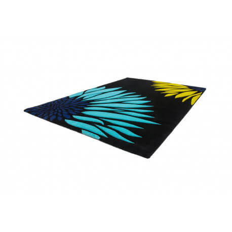 tapis de chambre moderne noir et bleu sting. Black Bedroom Furniture Sets. Home Design Ideas