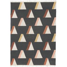 Tapis géométrique plat en laine scandinave Kashba Wigwam