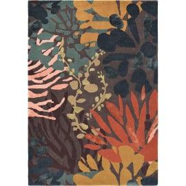 Tapis design tufté main floral laine et viscose Estella Submarin