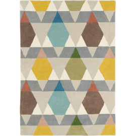 Tapis scandinave laine tufté main graphique Estella Vases