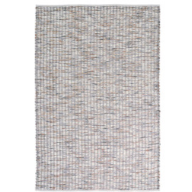 Tapis laine tissé main plat moderne rectangle Grain