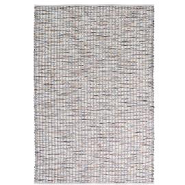 Tapis laine tissé main plat moderne rectangle Grain