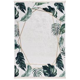 Tapis floral plat lavable en machine design Hajo