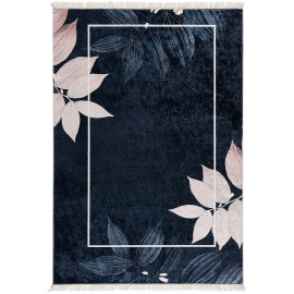 Tapis lavable en machine plat design floral Abacas