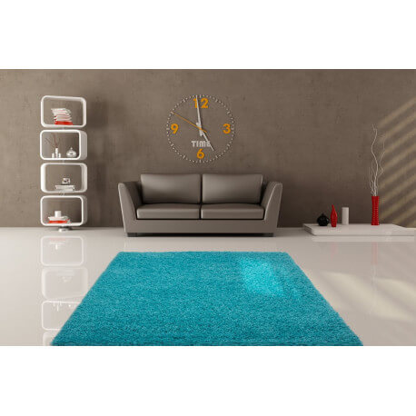 tapis de salon uni en polypropyl ne bleu clair hollywood. Black Bedroom Furniture Sets. Home Design Ideas