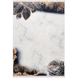 Tapis avec franges plat lavable en machine floral design Blida