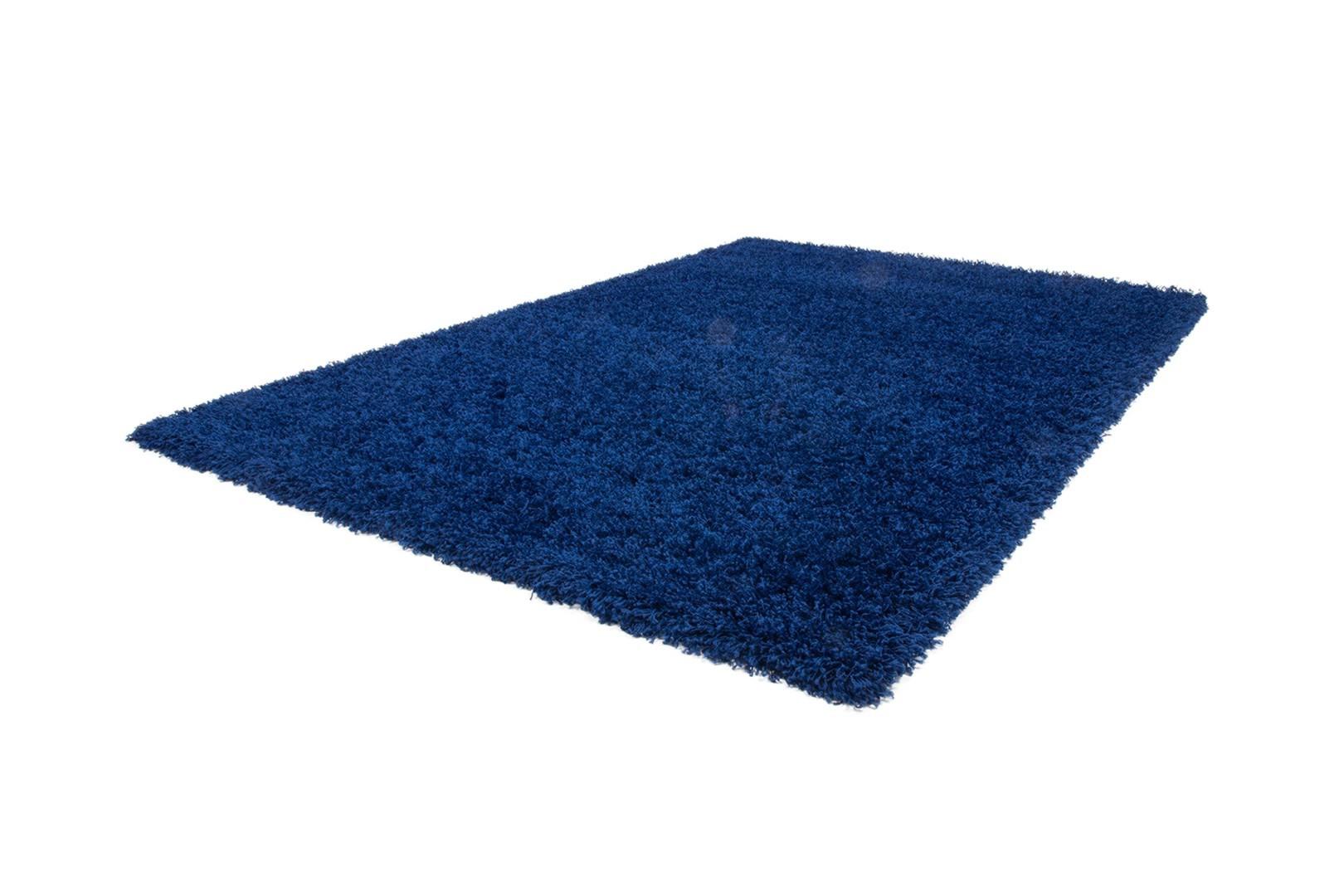 Tapis de chambre uni en polypropylène bleu Hollywood