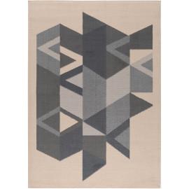 Tapis à courtes mèches design géométrique Miliana