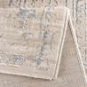 Tapis vintage brillant en polyester rayé Alizee