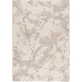 Tapis graphique effet marbre brillant moderne Gondo
