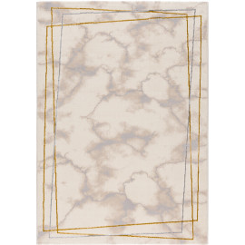 Tapis contemporain beige brillant en polyester Toulon