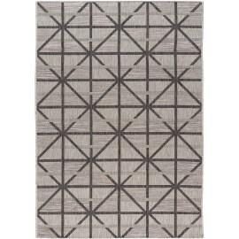 Tapis graphique gris intérieur et extérieur design Firoz