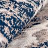 Tapis effet marbre bleu rectangle moderne Khuma