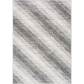 Tapis rectangle gris pour salon rayé moderne Sulma