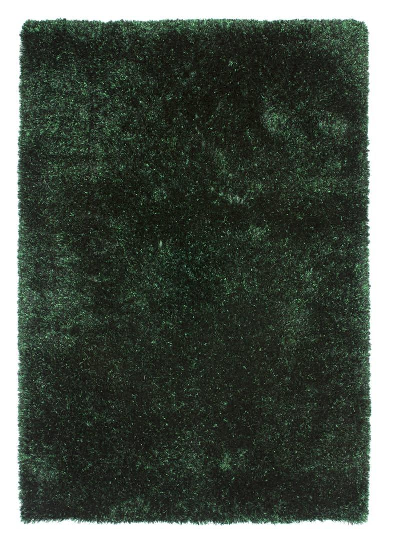 Tapis tufté main shaggy en polyester émeraude Martino
