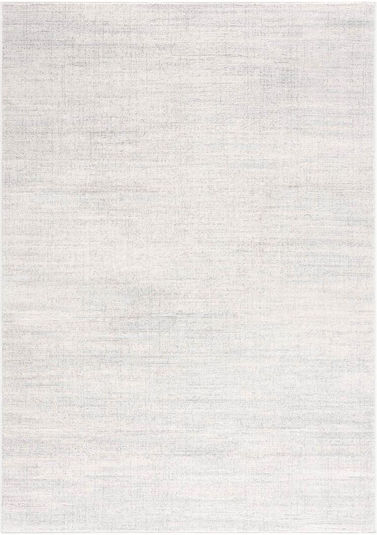 Tapis rayé à courtes mèches gris pour salon Tarang