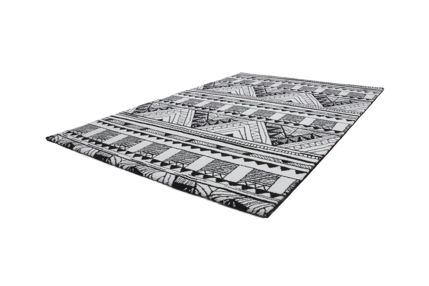 tapis motifs moderne pour salon noir et blanc toluca. Black Bedroom Furniture Sets. Home Design Ideas