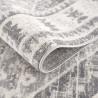 Tapis vintage rayé gris pour salon rectangle Nova