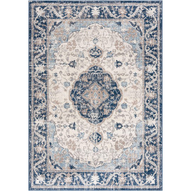 Tapis rayé gris pour salon vintage rectangle Oriolo