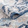 Tapis rayé gris pour salon vintage rectangle Oriolo