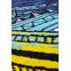 Tapis à motifs moderne pour salon vert et bleu Toluca