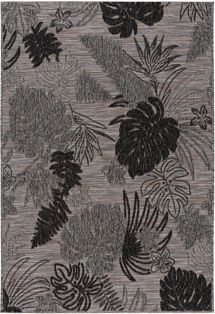 Tapis floral intérieur et extérieur plat design Vindum