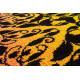 Tapis original coloré à courtes mèches noir et fuchsia Macca