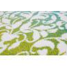 Tapis original coloré à courtes mèches blanc et vert Macca