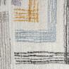 Tapis multicolore avec franges rayé moderne Grensten