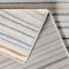 Tapis rayé avec franges multicolore design Koldby