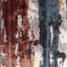 Tapis moderne rayé multicolore avec franges Rodelund