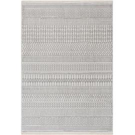 Tapis berbère avec franges ethnique gris Morum