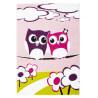 Tapis d'enfant multicolore aux velours fins Owls In Love