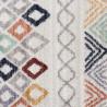 Tapis berbère multicolore avec franges ethnique Bovense