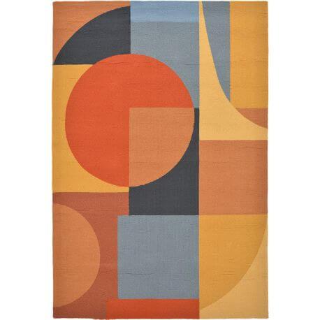 Tapis géométrique intérieur et extérieur multicolore design Matisse