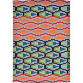 Tapis multicolore intérieur et extérieur graphique design Cruz