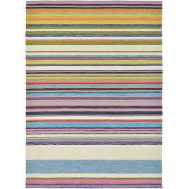 Tapis rayé intérieur et extérieur design multicolore LaVida