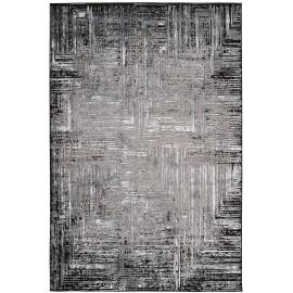 Tapis vintage gris effet satiné Allure