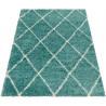 Tapis shaggy design rectangle géométrique Chantecler